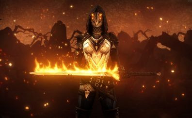 Dark souls ii game, armor, girl warrior