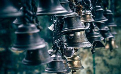 Bells, steel chain