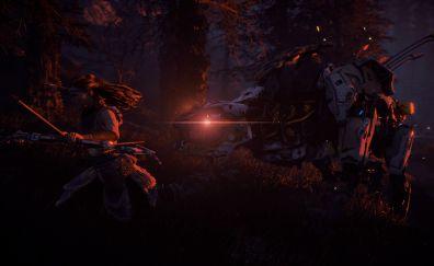Horizon zero dawn video, game, night