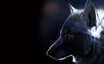 Wolf muzzle, dark, art