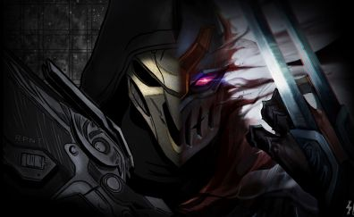 Zed, reaper, video game, League of Legends, Overwatch video game