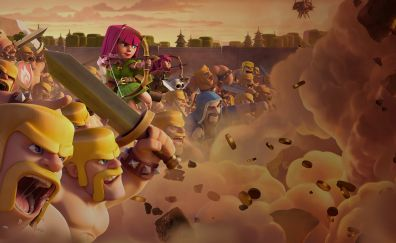 Clash of clans mobile game, clan wars