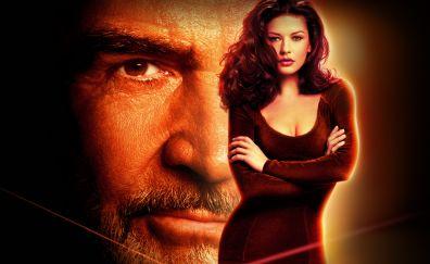 Sean Connery, Catherine Zeta-Jones, Entrapment, 1999 movie