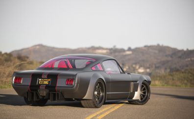 Ford Mustang Fastback classic car, rear view