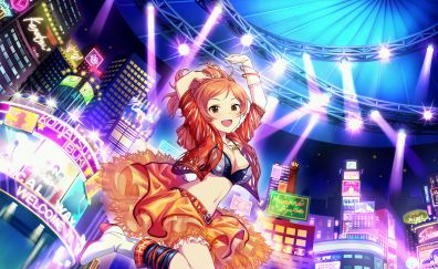 Ibuki Komatsu, happy anime girl, anime