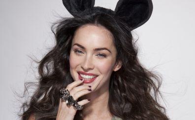 Megan Fox, smile, playboy dress