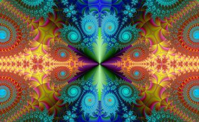 Fractal, background, design, abstract