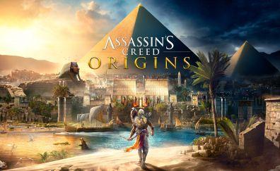 Assassin's Creed Origins, video game, pyramids, 4k
