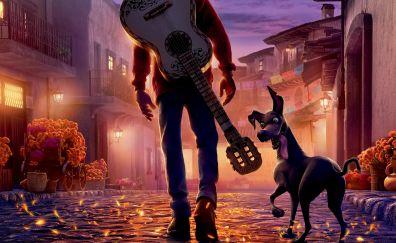 Ghost, dog, walk, coco, animated movie, 5k