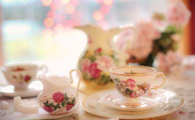 Tea cup, tea pot, tea