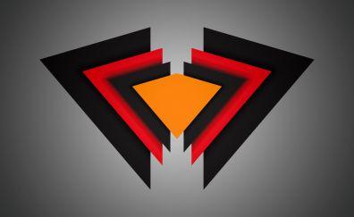 Triangles, material design, dark