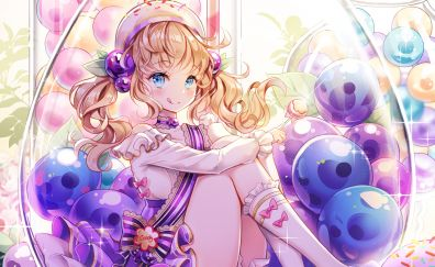 Pebbles, blonde anime girl, anime