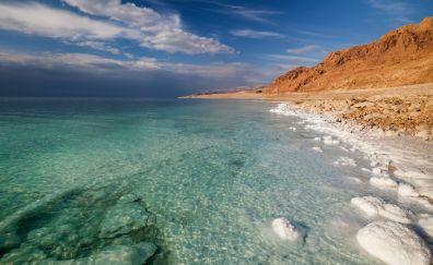 Dead sea, water, beach