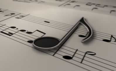Musical notes, music