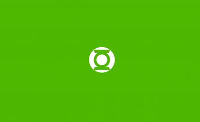 Minimalism green lantern ring