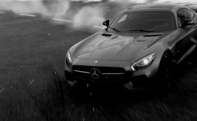 Driveclub video game, monochrome