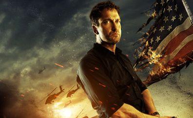 Olympus Has Fallen, 2013 movie, Gerard Butler, actor, flag