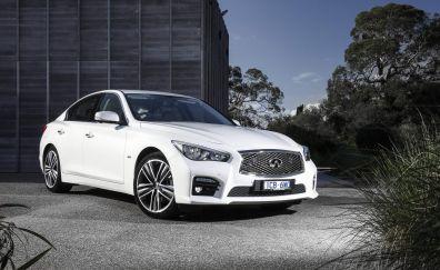 Q50 infiniti white car