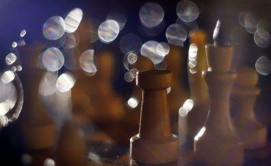 Chess, bokeh