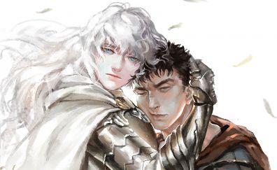 Berserk, Guts, anime couple, artwork