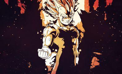 Dragon ball Z, anime boy, art