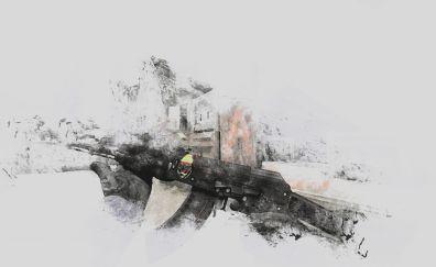 Ak 47 gun, counter strike: global offensive video game wallpaper
