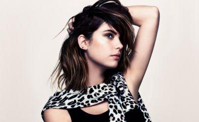Ashley Benson, hands on head, brunette