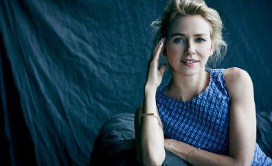 Beautiful blue eyes, Naomi Watts, actress, smile