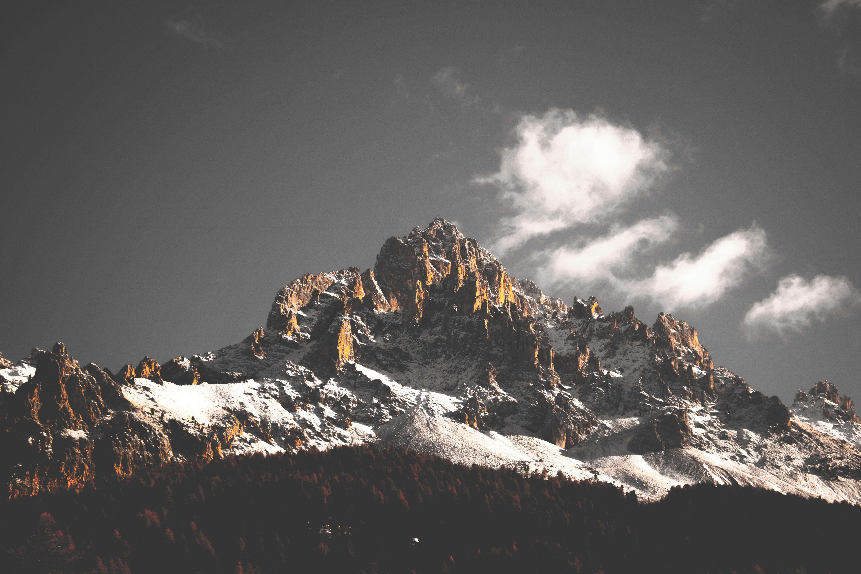 Mountains, cliffs, nature, tree, 5k