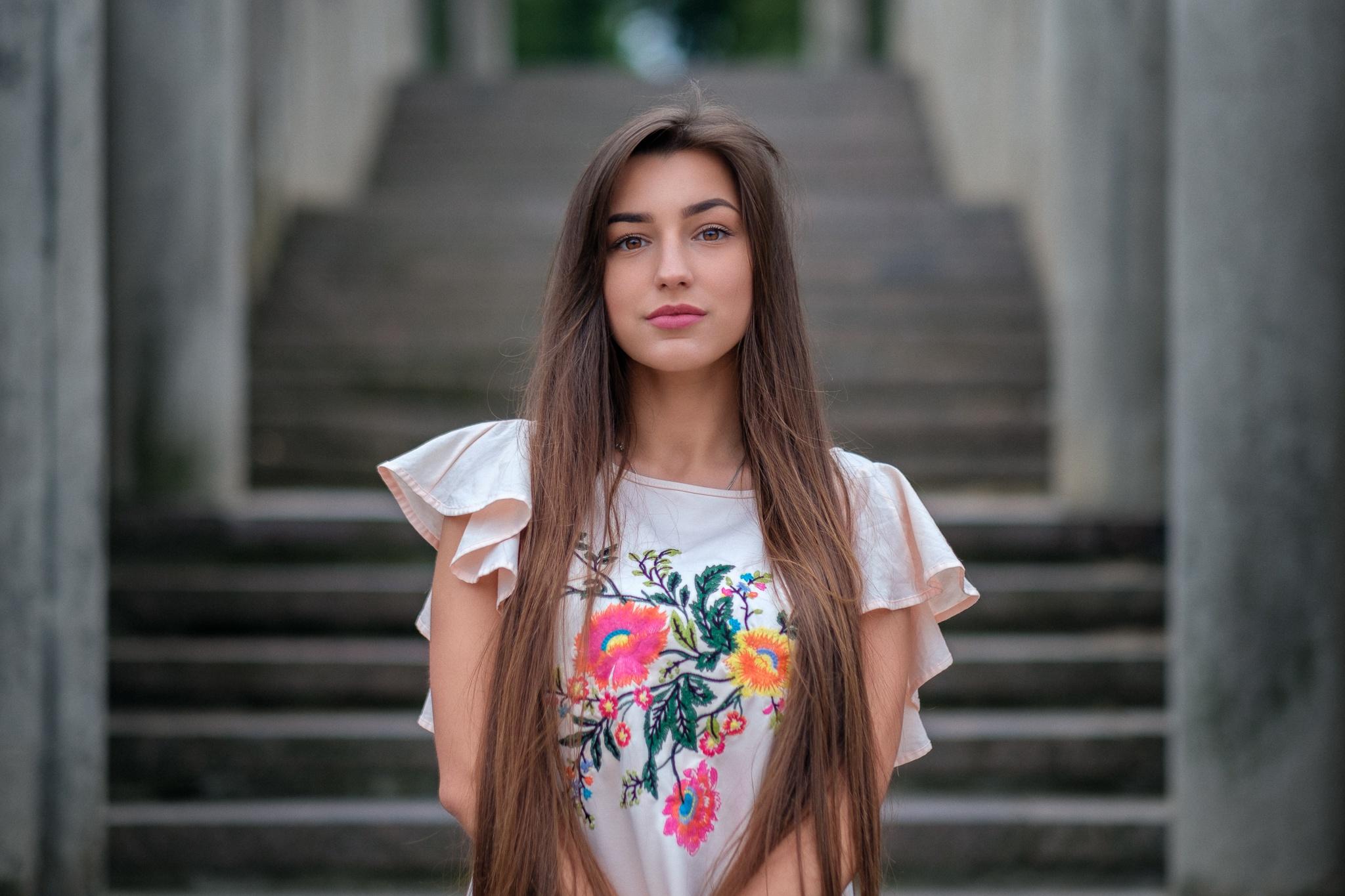 Brown eyes, girl model, beautiful