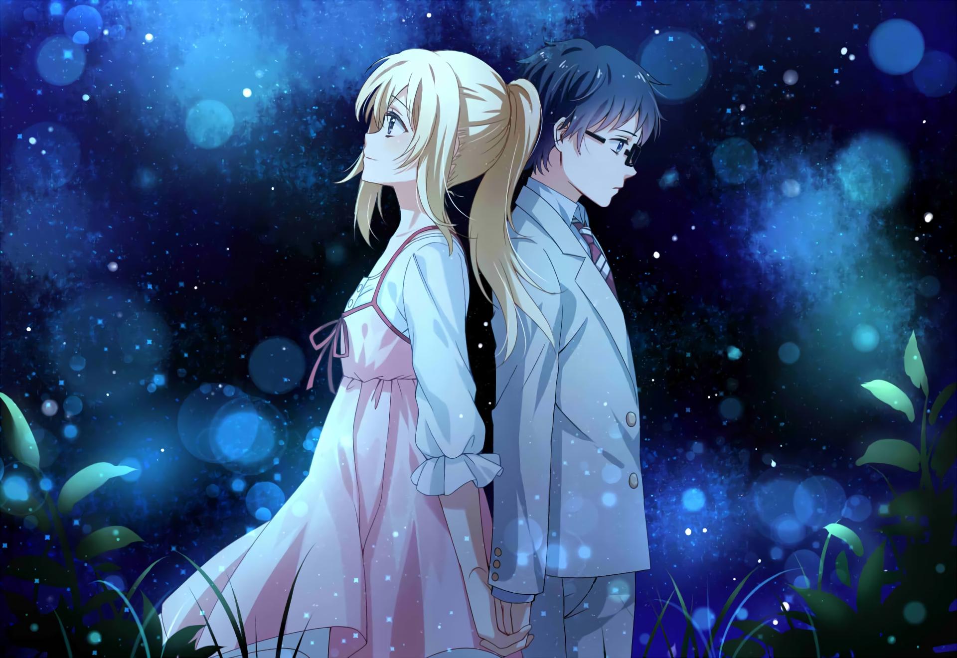Anime couple, Kaori Miyazono, Kousei Arima, Your Lie in April